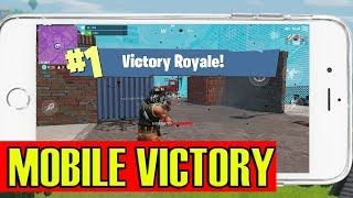 VICTORY ROYALE in Fortnite Mobile?! (iOS Gameplay)